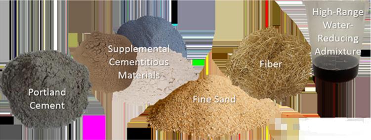 超高性能混凝土(UHPC)主要成份
